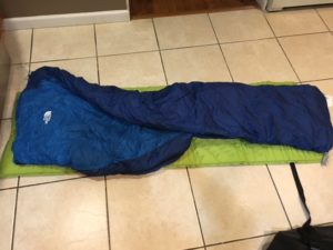 sleeping bag pad